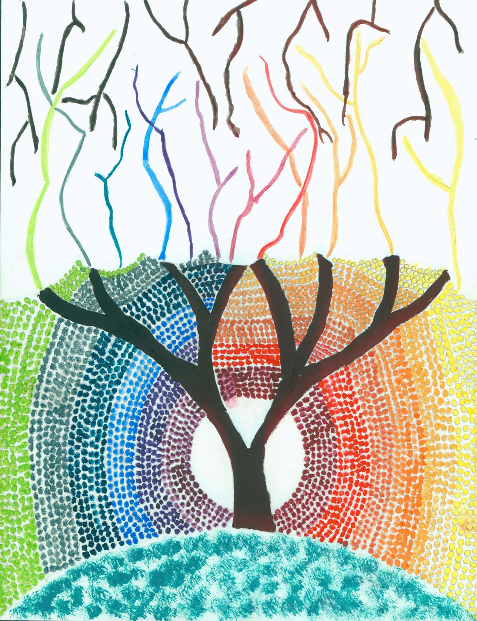 73d8ef03a JGHS Art One students studied the traditional color wheel organization  system and then created an original version based on a theme or design of  their ...