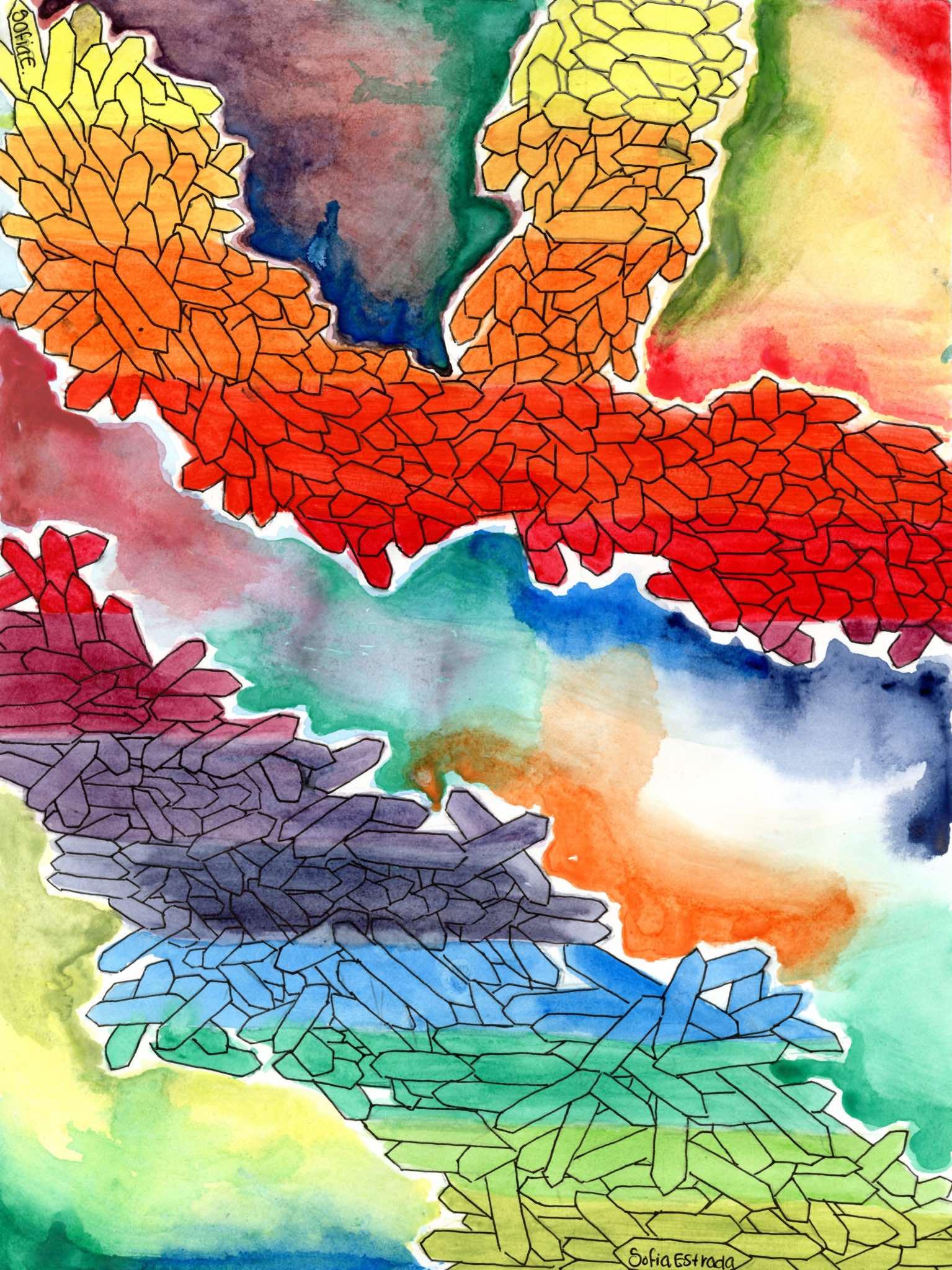 Color Spectrum Art Project